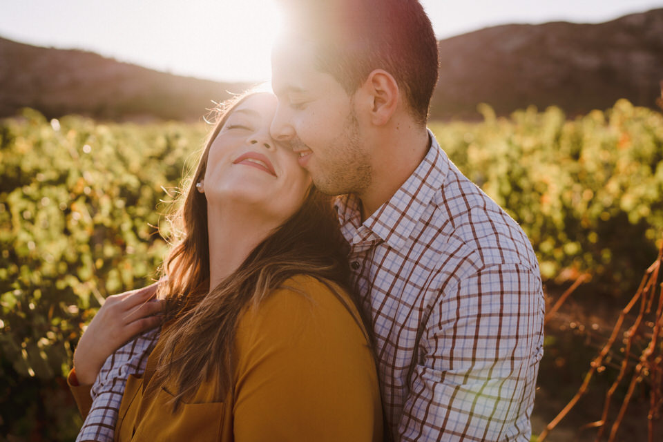 amor entre viñedos